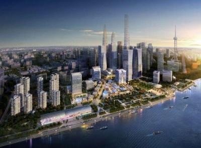 """建筑面积136万平方米,是集8栋超甲级金融办公楼,展览中心和""""船厂1862"""""""
